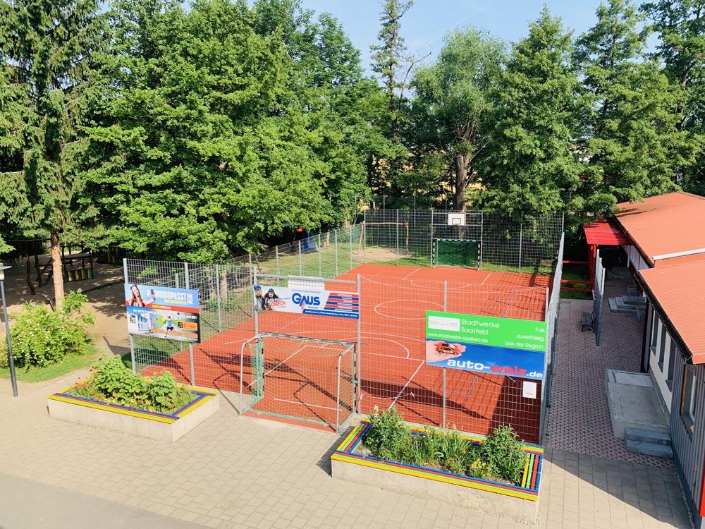 Sanierung des Sportplatzes der SABEL Gemeinschaftsschule Saalfeld